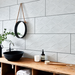 Mantles Off-White Geo Limestone Effect 90 x 33 Tiles