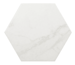 Marble Effect White Hexagon Tiles