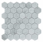 Marble Hexagon Mosaic Tiles