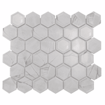 Marbled Bevel Hexagon Mosaic Tiles