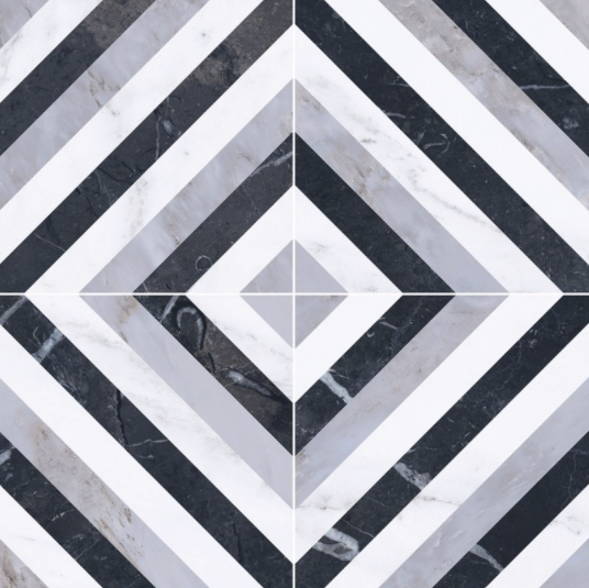 Marbled Diamond Patterned Tiles