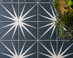 Marine Blue Patterned Tiles