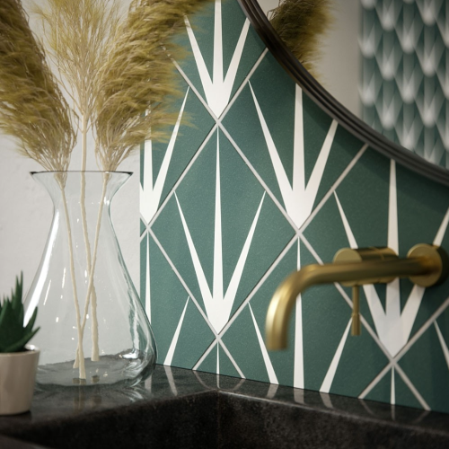 Marine Green Patterned Tiles
