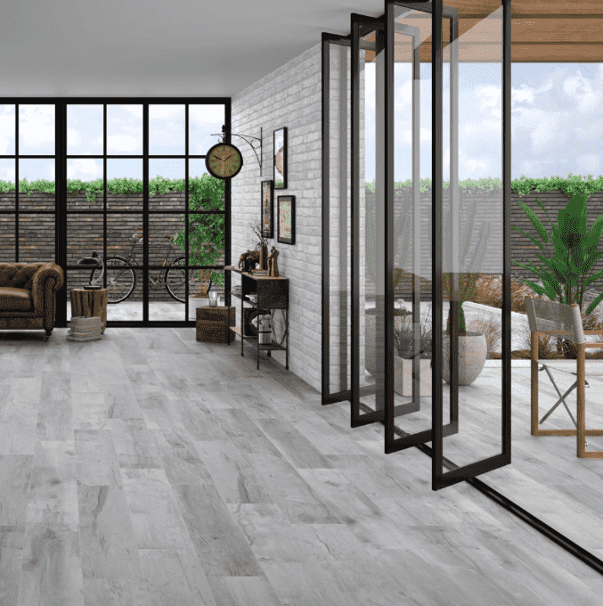 Maryland Cloud Grey Wood Effect Tiles