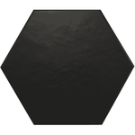Matt Mono Black Hexagon Tiles