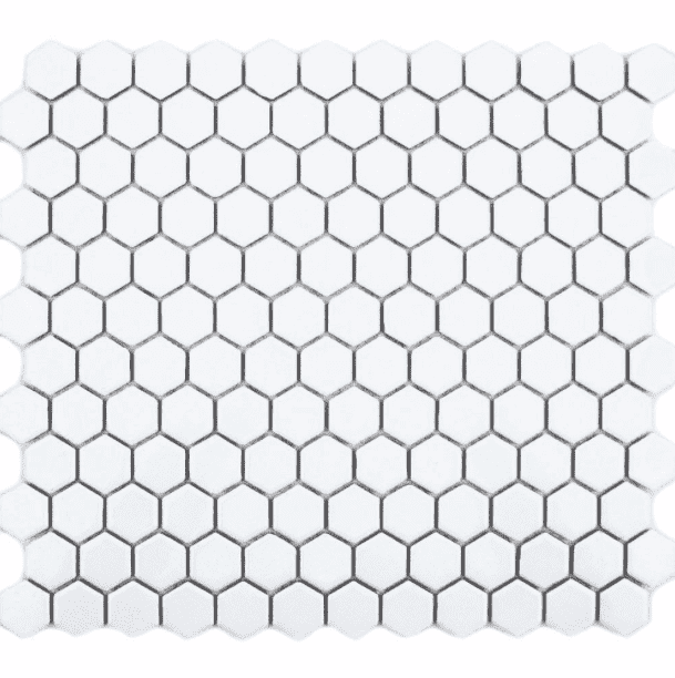 matt-white-hexagon-mosaic-tiles