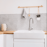 Matt White Hexagon Mosaic Tiles
