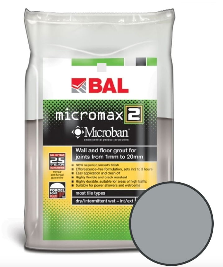 Medium Grey Floor And Wall Grout 2.5KG