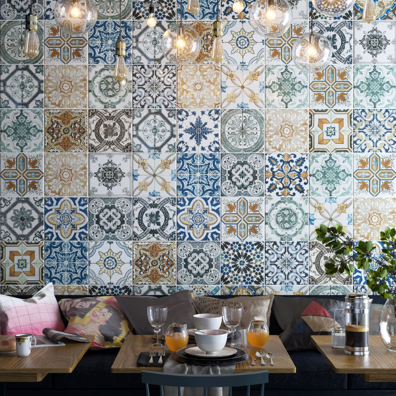 Merkez Coloured Pattern Tiles
