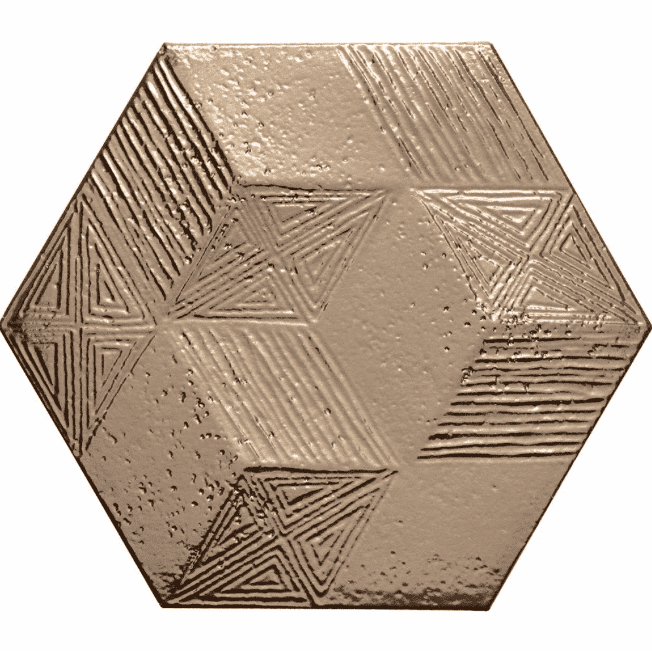 Metallic Gold Hexagon Tiles