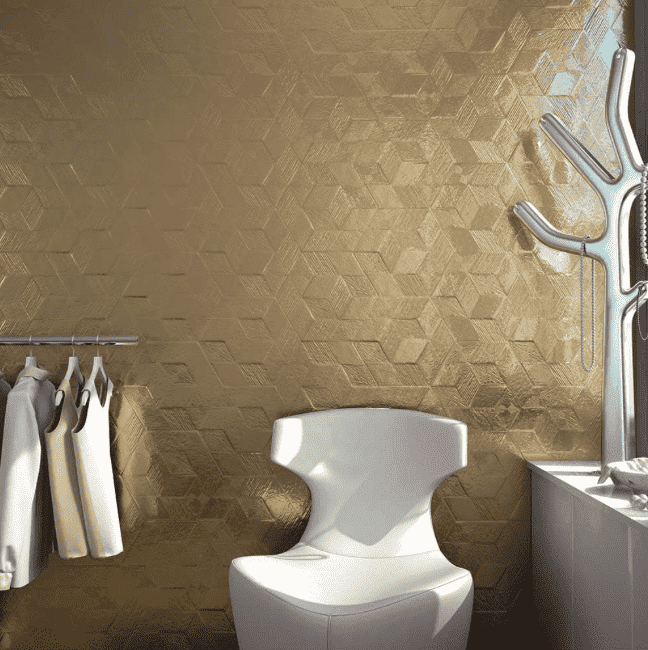metallic-gold-hexagon-tiles