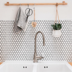 Micro White Hexagon Mosaic Tiles