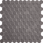 Midnight Grey Matt Hexagon Mosaic Tiles