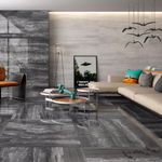 Midnight Polished Large Marble Effect Tiles