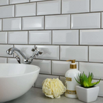 Mini Metro Snow Grey Wall Tiles 15cm x 7.5cm