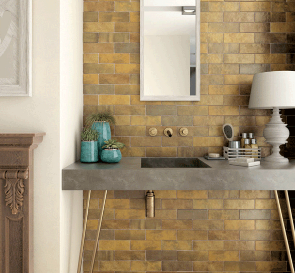 Mixed Gold Metro Wall Tiles