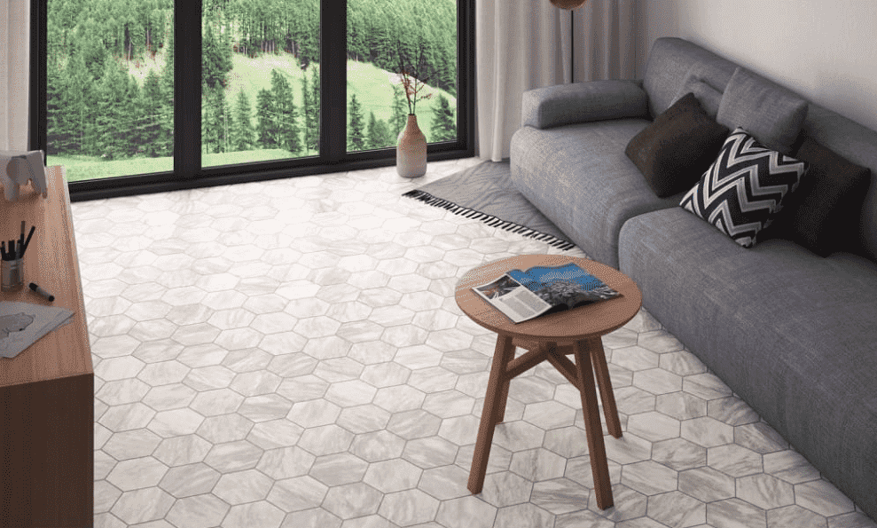 mixed-grey-marble-hexagon-tiles