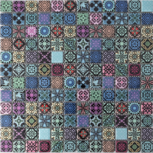 Moroccan Dark Colour Mosaics