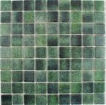 Mottled Forest Green Mixed Mosaic Tiles
