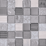 Narlek Mixed Grey Mosaic Tiles