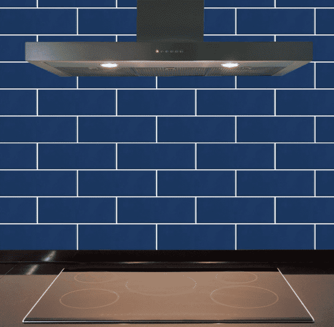 Navy Blue 30 x 10 Metro Wall Tiles