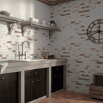 New York Painted Brick Effect Wall Tile
