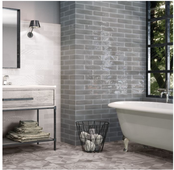 Paros Grey Metro Wall Tiles