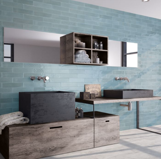 Paros Light Blue Metro Wall Tiles