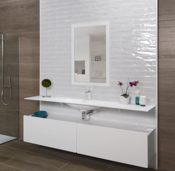 Paros White Metro Wall Tiles