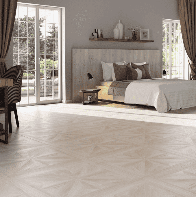 Parquet Pale Birch Wood Effect Tiles