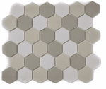 Pastel Mix Hexagon Mosaic Tiles