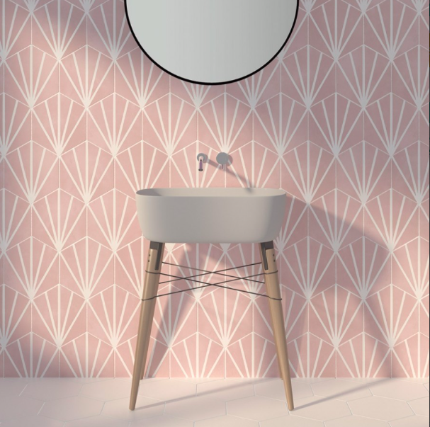 pastel-pink-hexagon-pattern-tiles