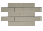 Pearl Grey Soft Glazed Metro Tiles
