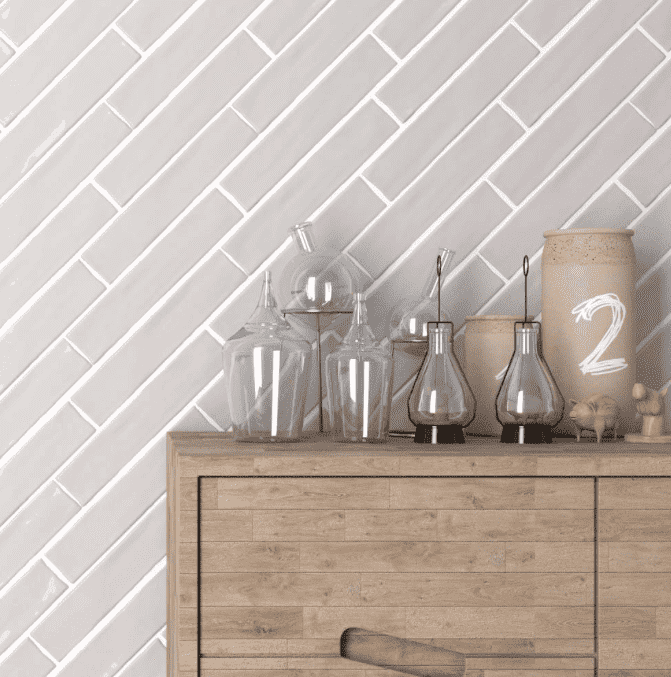 Pearl Silver Antique 250 x 50 Metro Tiles