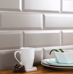 Pewter Bevelled Matt 30 x 10 Metro Wall Tiles