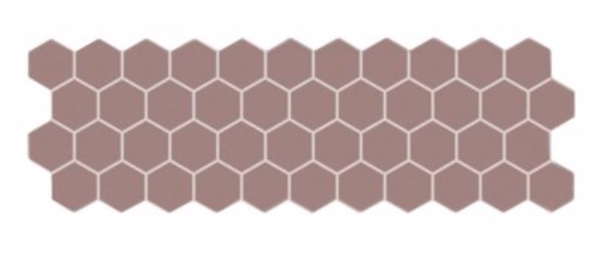 Pink Hex Mosaic Panel Tile