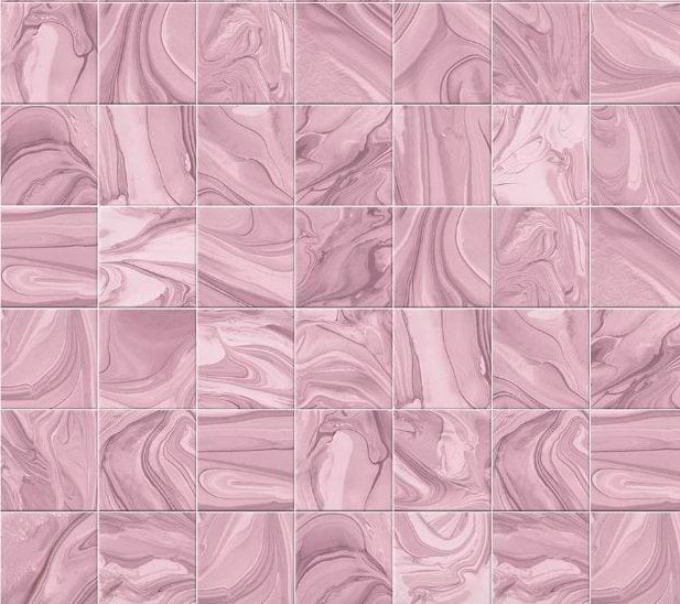 Pink Poured Resin Design Patterned Wall Tile