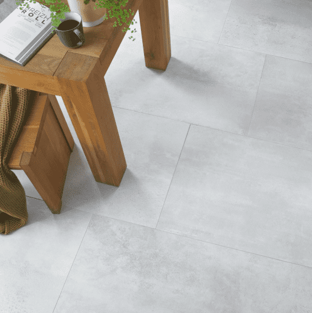 Plaistow Matt Grey Concrete Effect Tiles