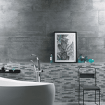Plaistow Polished Blue Steel 120 x 60 Concrete Effect Tiles