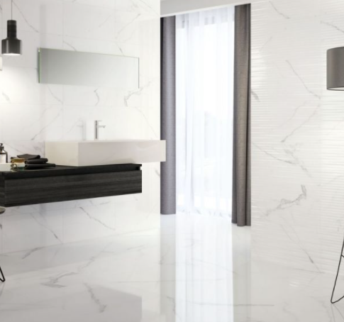 Polaris Marble Effect Gloss Floor Tiles