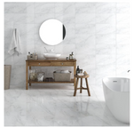 Provenance Light Grey Marble Effect Tiles