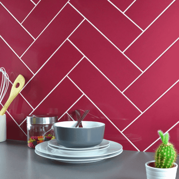Purple Vimto 30 x 10 Metro Wall Tiles