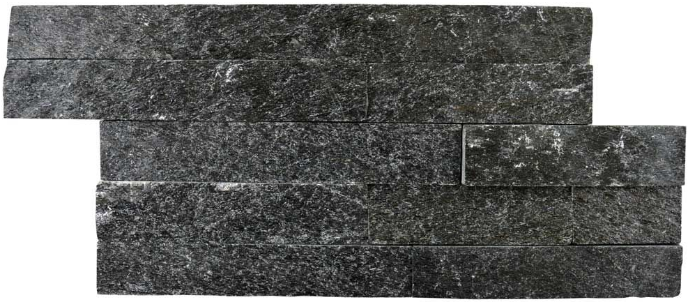 Rockstone Split Face Sparkle Black Tiles