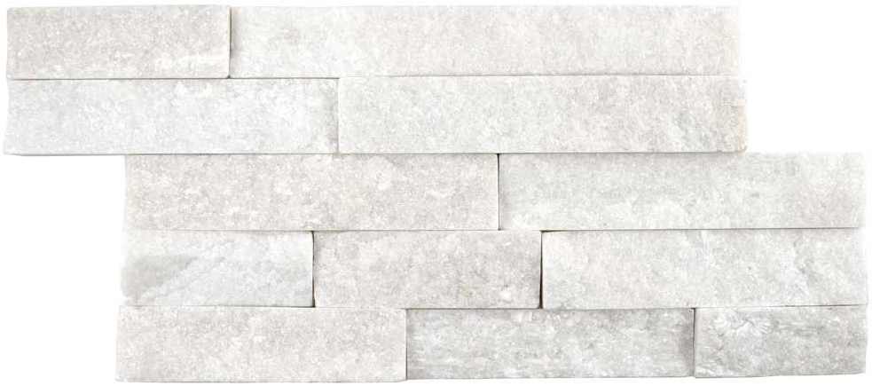 Rockstone Split Face Sparkle White Tiles