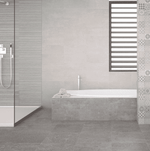 Ruptured Lines Grey Concrete Effect Wall Tiles