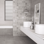 Ruptured Pattern Grey Concrete Effect Wall Tiles