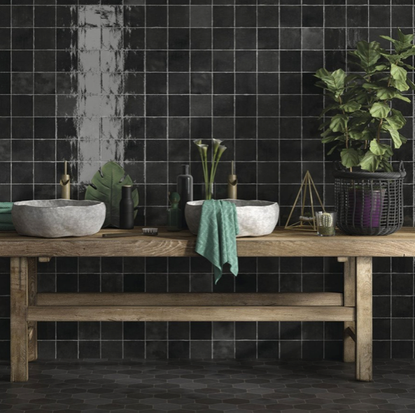 Rustic Black Mix Wall Tiles