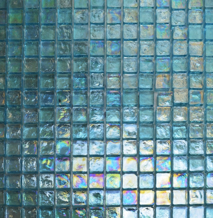 Reclaimed Blue Glass Mosaic Tiles