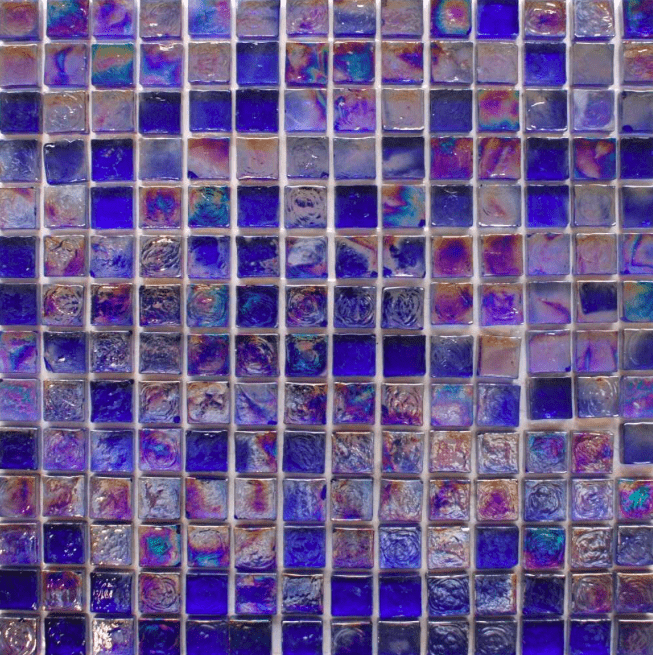 Rustic Blue Glass Mosaic Tiles