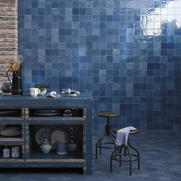 Rustic Blue Mix Wall Tiles